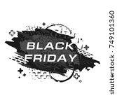 black friday grunge sale banner | Shutterstock .eps vector #749101360