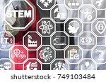 stem smart industrial... | Shutterstock . vector #749103484