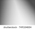 abstract halftone dotted grunge ... | Shutterstock .eps vector #749104834