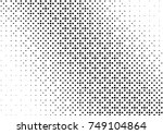 abstract halftone dotted grunge ... | Shutterstock .eps vector #749104864