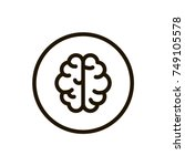 brain  line icon. high quality... | Shutterstock .eps vector #749105578