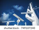 maritime navigation instruments ... | Shutterstock . vector #749107240