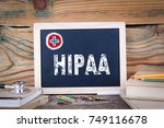 hipaa. health insurance... | Shutterstock . vector #749116678