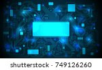 printed circuit board with a... | Shutterstock .eps vector #749126260