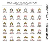 professional occupation   thin... | Shutterstock .eps vector #749128000