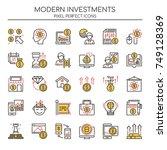 modern investments   thin line... | Shutterstock .eps vector #749128369