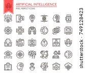 artificial intelligence   thin... | Shutterstock .eps vector #749128423