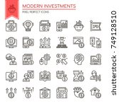 modern investments   thin line... | Shutterstock .eps vector #749128510
