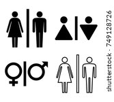 set of wc icons. gender icon.... | Shutterstock .eps vector #749128726