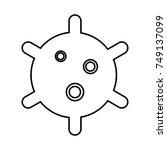 virus black icon . | Shutterstock .eps vector #749137099