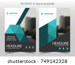 green triangle brochure annual... | Shutterstock .eps vector #749142328