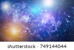 starry outer space | Shutterstock . vector #749144044