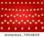 set of color garlands  festive... | Shutterstock .eps vector #749148229