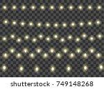 set of color garlands  festive... | Shutterstock .eps vector #749148268