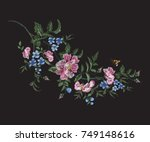 embroidery floral traditional... | Shutterstock .eps vector #749148616