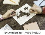 finally finding solution | Shutterstock . vector #749149030