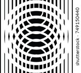 black and white circular lines. ... | Shutterstock .eps vector #749150440