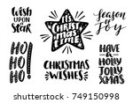 merry christmas quotes set ... | Shutterstock .eps vector #749150998