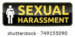 sexual harassment   banner with ... | Shutterstock .eps vector #749155090