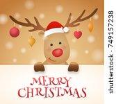 cute reindeer cartoon character ...   Shutterstock .eps vector #749157238