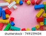 close up children plastic...   Shutterstock . vector #749159434