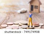 miniature people  ... | Shutterstock . vector #749174908