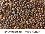 coffee beans background  ... | Shutterstock . vector #749176834