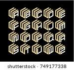 initial set logo design | Shutterstock .eps vector #749177338