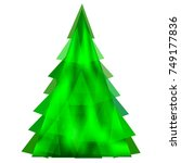 abstract green christmas tree... | Shutterstock .eps vector #749177836