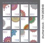 business card. vintage... | Shutterstock .eps vector #749180848