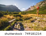 rest point under gerlach peak... | Shutterstock . vector #749181214