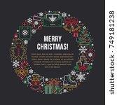christmas new year banner... | Shutterstock .eps vector #749181238