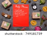 new year party planner | Shutterstock . vector #749181739