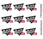 black friday designs vector set.... | Shutterstock .eps vector #749182000