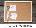 healthy eating diet slimming... | Shutterstock . vector #749182534