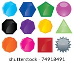 vector set of button icons