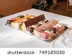 variety of cakes   Shutterstock . vector #749185030