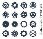 illustration. set icons black...   Shutterstock . vector #749185549
