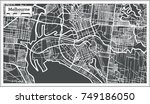 melbourne australia map in... | Shutterstock .eps vector #749186050