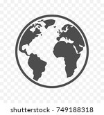 earth icon. isolated on... | Shutterstock .eps vector #749188318