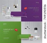 2 banner furniture sale design... | Shutterstock .eps vector #749190556