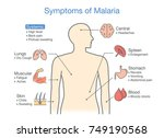 diagram for patient with... | Shutterstock .eps vector #749190568