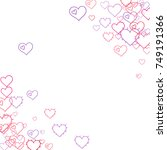 pink hearts confetti. scattered ...   Shutterstock .eps vector #749191366