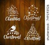 vector set of holidays... | Shutterstock .eps vector #749193526
