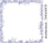 snowy frame | Shutterstock .eps vector #749193979