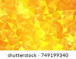 Yellow Color Geometric Rumpled...