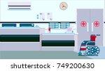 hospital reception illustration | Shutterstock .eps vector #749200630