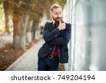 bearded man | Shutterstock . vector #749204194