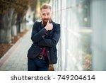 bearded man | Shutterstock . vector #749204614