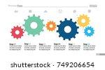 six step process chart design | Shutterstock .eps vector #749206654